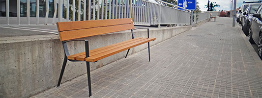 LLEIDA STREET FURNITURE The bench Oslo installed in Solsona