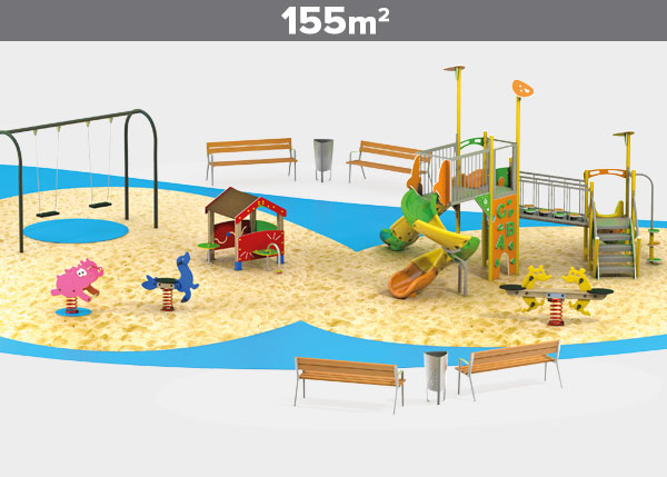 Playground equipment ,Play areas ,ALUMINIO10 Aluminio 10 play area
