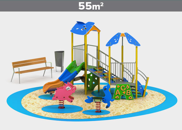 Playground equipment ,Play areas ,ALUMINIO2 Aluminio 2 play area