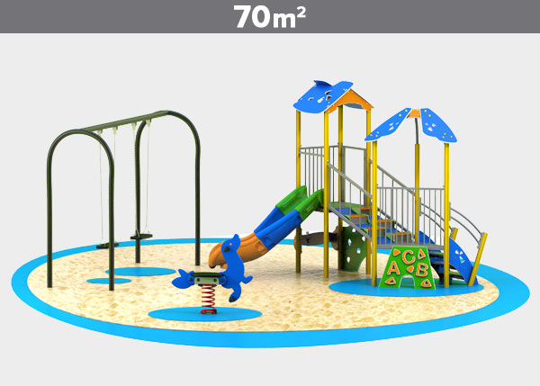 Playground equipment ,Play areas ,ALUMINIO3 Aluminio 3 play area