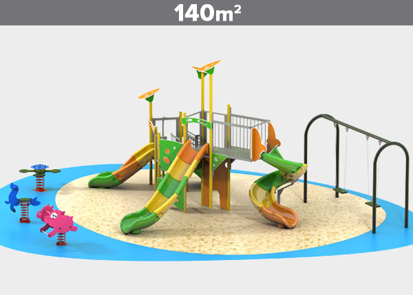 Playground equipment ,Play areas ,ALUMINIO9 Aluminio 9 play area