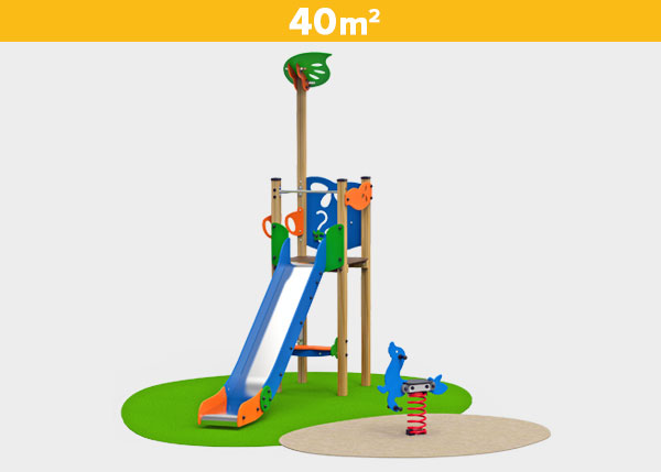 Playground equipment ,Play areas ,BASICA4 Basica 4 play area
