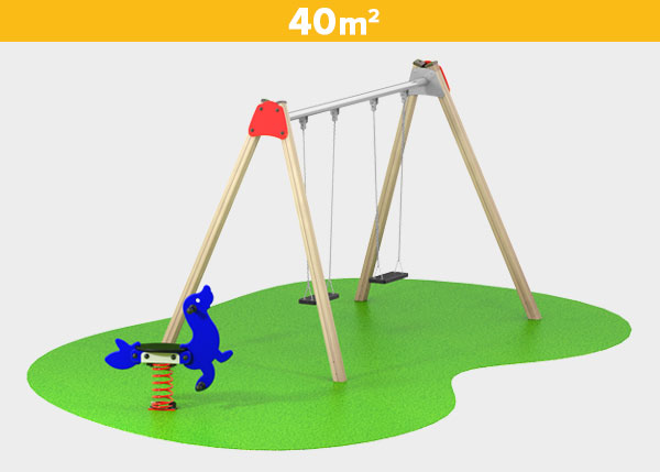 Playground equipment ,Play areas ,BASICA5 Basica 5 play area