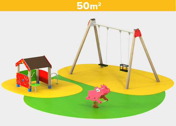 Playground equipment ,Play areas ,BASICA8 Basica 8 play area