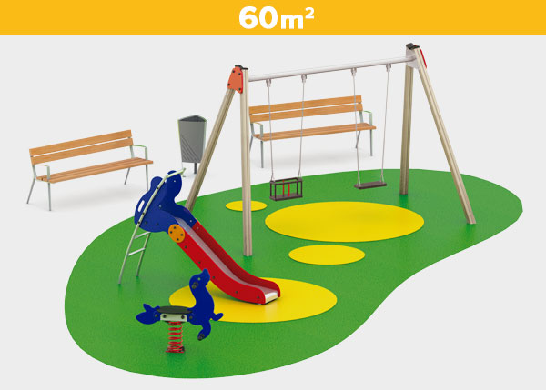 Playground equipment ,Play areas ,BASICA9 Basica 9 play area