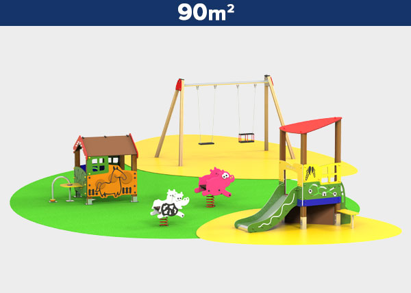 Playground equipment ,Play areas ,GRANJA Granja play area