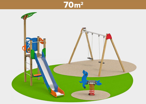 Playground equipment ,Play areas ,MADERA4 Madera 4 play area