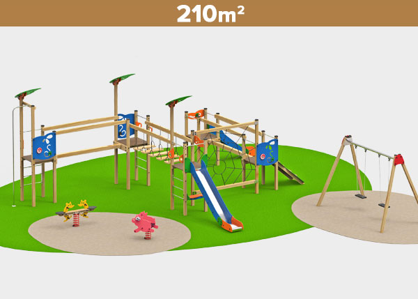 Playground equipment ,Play areas ,MADERA7 Madera 7 play area