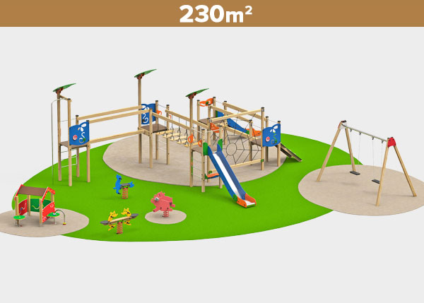 Playground equipment ,Play areas ,MADERA8 Madera 8 play area