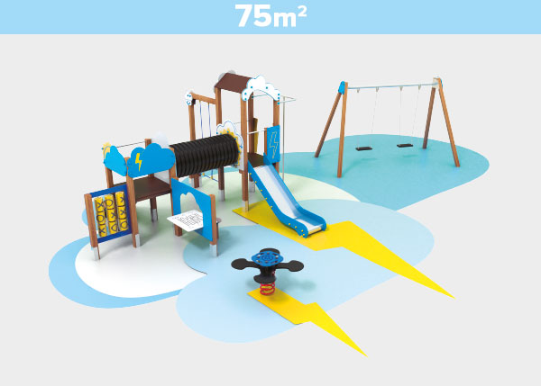Playground equipment ,Play areas ,TK75 TK75 play area