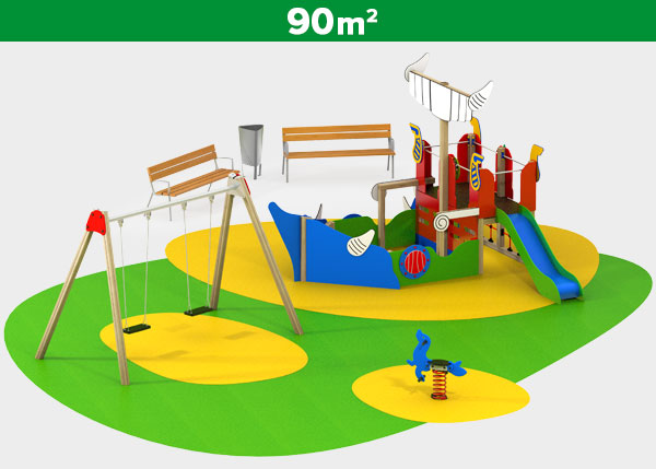 Playground equipment ,Play areas ,VIKING2 Viking 2 play area
