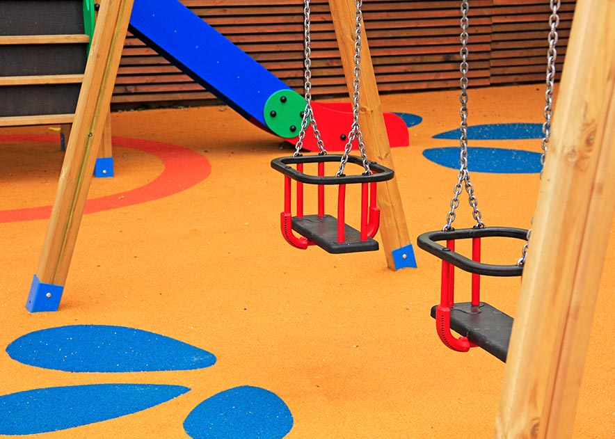 Playgrounds with slides, swings and children's games , Swings , PCL5 Clok Cuna swing ,