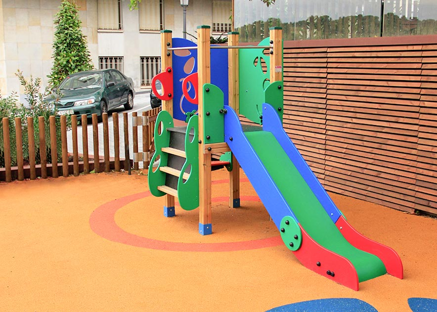 Playgrounds with slides, swings and children's games , Ekko Line  , PEC7 PURA ,