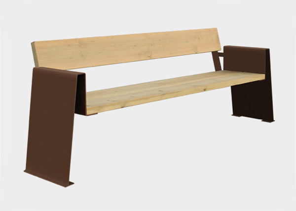 Site Furnishing ,Benches ,UB18PT Alp Bench