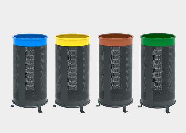 Site Furnishing ,Recycling ,UP28B Bora Color Litter bin