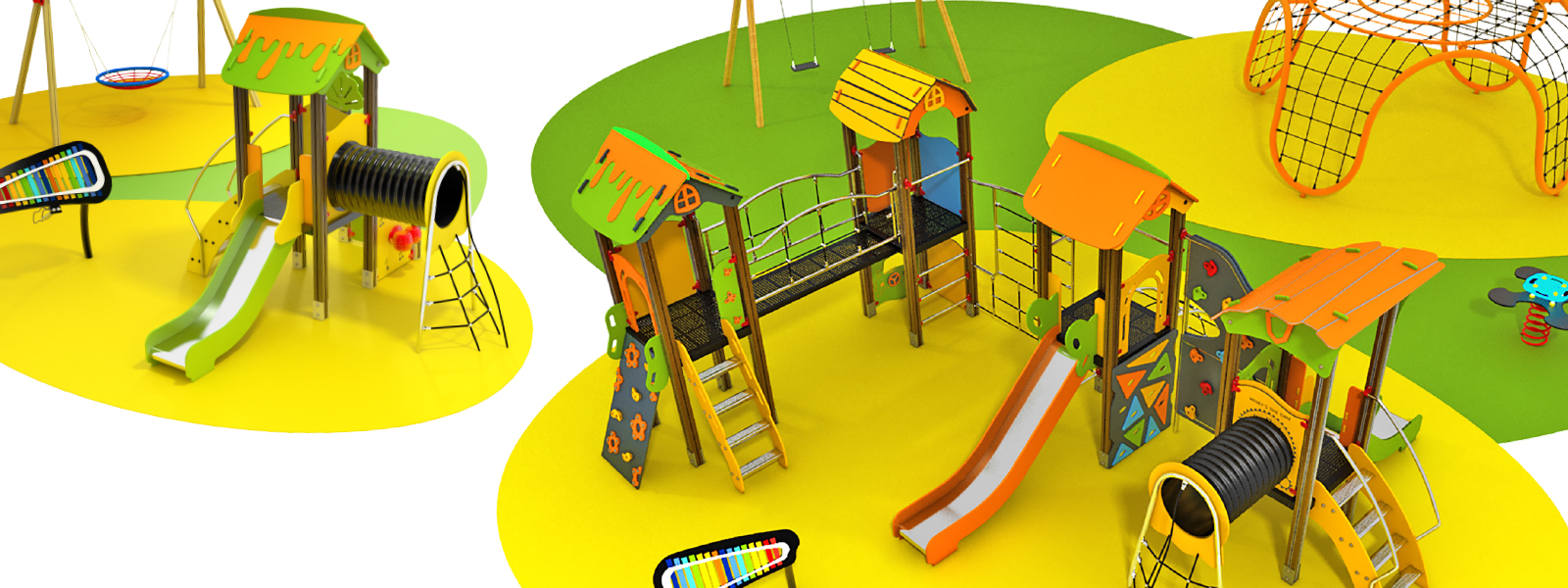 A playground can be more than a slide and a staircase
