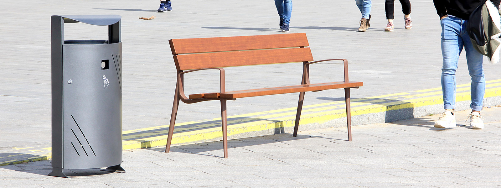 Site Furnishing , Benches , UB29 Oslo bench ,